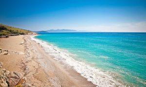 Albania sandy beach